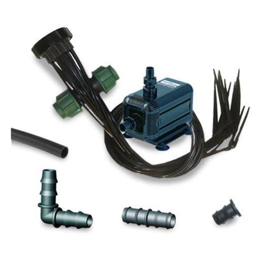 AquaKing HX 6520 Vatpomp 1000 liter per uur Irrigatieset 12 potten