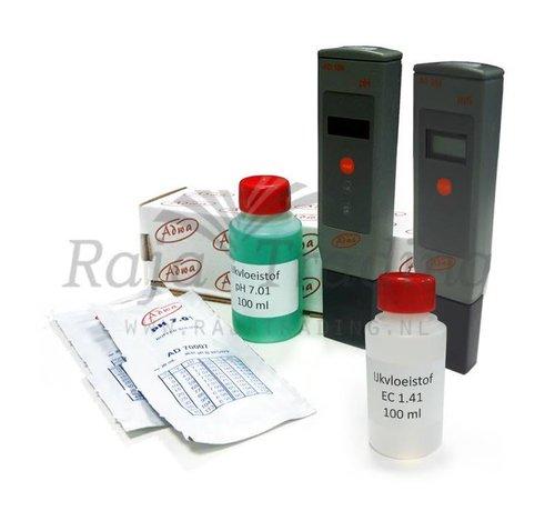 Adwa pH EC meter Set inclusief ijkvloeistoffen