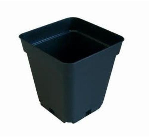 Grow Pot Square 0.5 Liter 9x9 cm Black