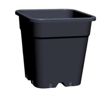 Grow Pot Square 11 Liter 24x24 cm Black