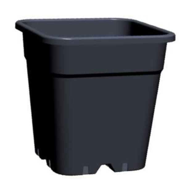 Vierkante pot 11 liter 24 x 24 cm