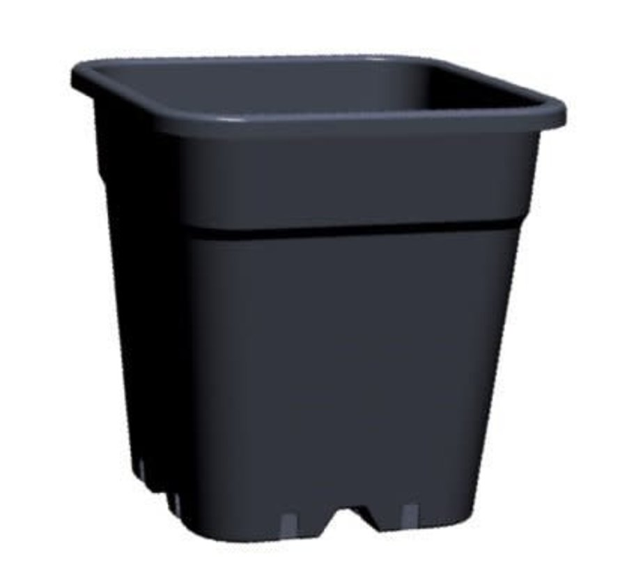 Grow Pot Square 18 Liter 31x31 cm Black