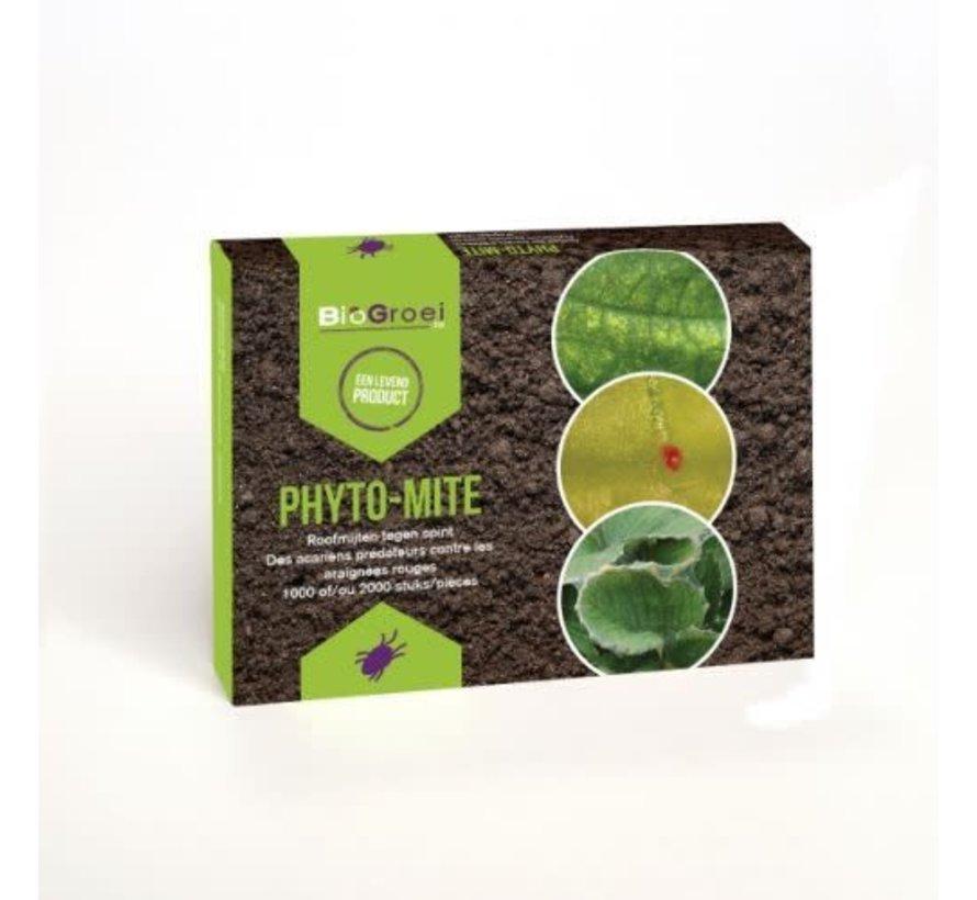 Biogroei Phyto-mite Phytoseiulus Roofmijt tegen kasspint