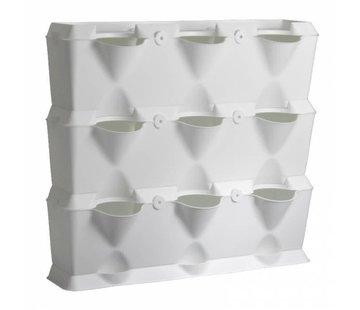 Minigarden Vertical Weiß 3 Modul Starter-kit