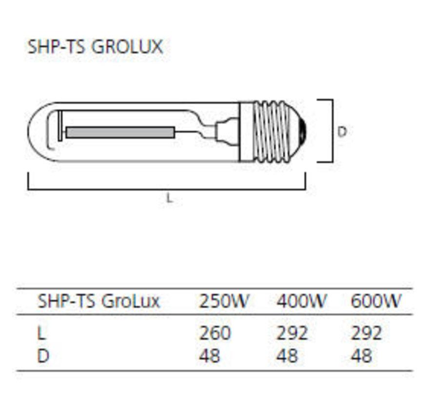 Sylvania 600 Watt SHP TS GroLux HPS Kweeklamp