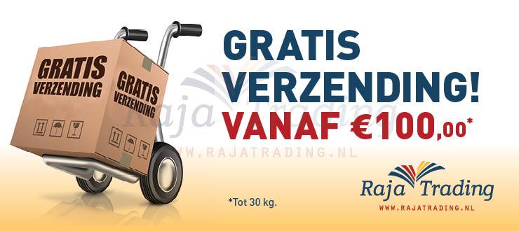 Tot maximaal 30 kg gratis verzonden in de Benelux vanaf 100 euro.
