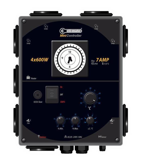 Cli-mate Mini Controller 4x 600 Watt 7 Ampère
