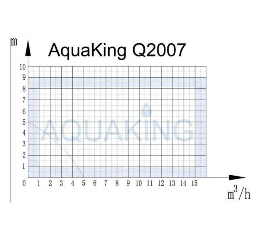 AquaKing Q2007 Bomba sumergible 3600 litros por hora Set de riego