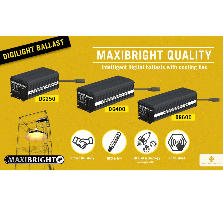 Maxibright Digilight Ballast 600 Watt HPS