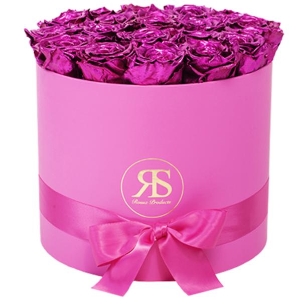 Flowerbox Longlife Ciara Metallic Roze