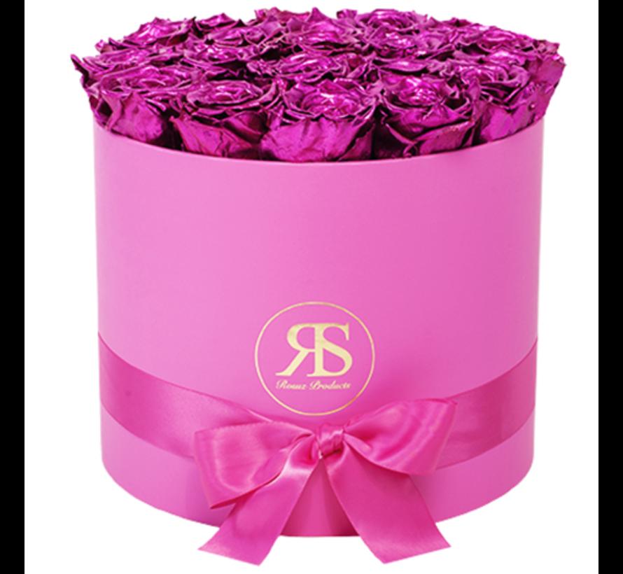 Rosuz Flowerbox Longlife Ciara Metallic Roze