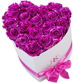 Rosuz Flowerbox Longlife Ella Metallic Roze