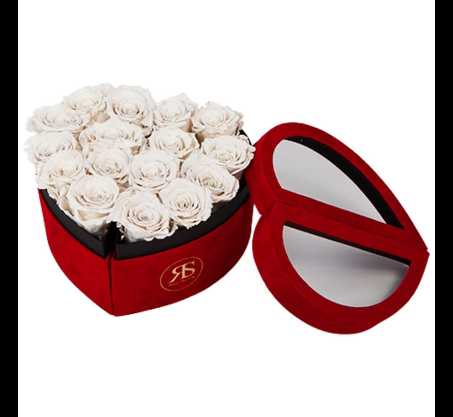 Flowerbox Longlife Scarlet Wit