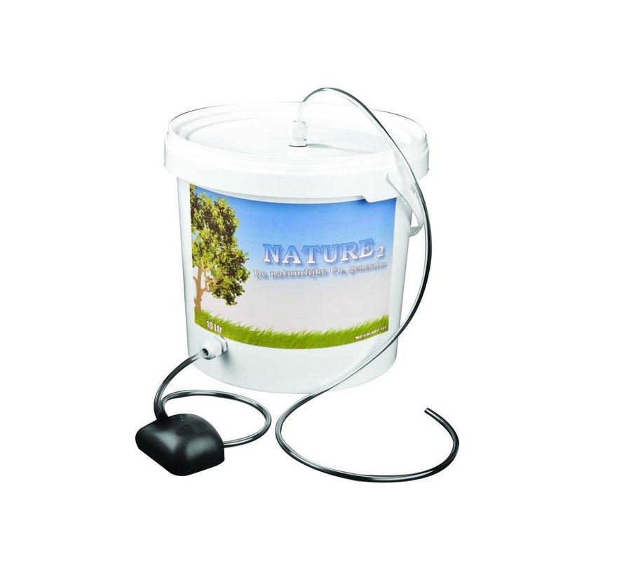 52/5000 Nature 2 CO2 boost Bucket 5 Liter + Pump complete set
