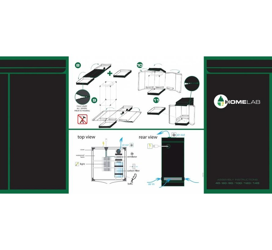 Homebox Homelab 120 Growbox 120x120x200 cm