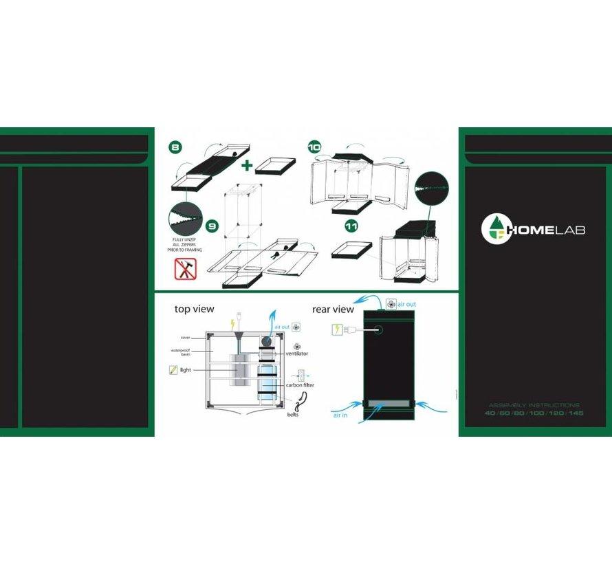 Homebox HomeLab 145 Kweektent 145x145x200 cm
