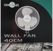 One4Air Muur Fan Wand Ventilator Ø 40 cm