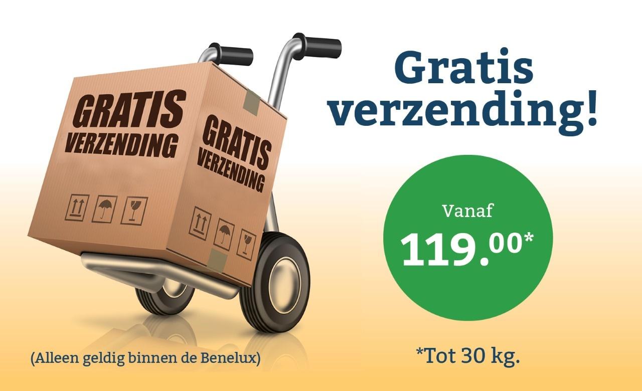 Tot maximaal 30 kg gratis verzonden in de Benelux vanaf 119 euro.