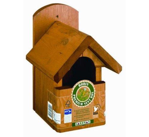 Gardman Gardman Premium Roodborst Nestkast Vogelhuis 19mm Hout