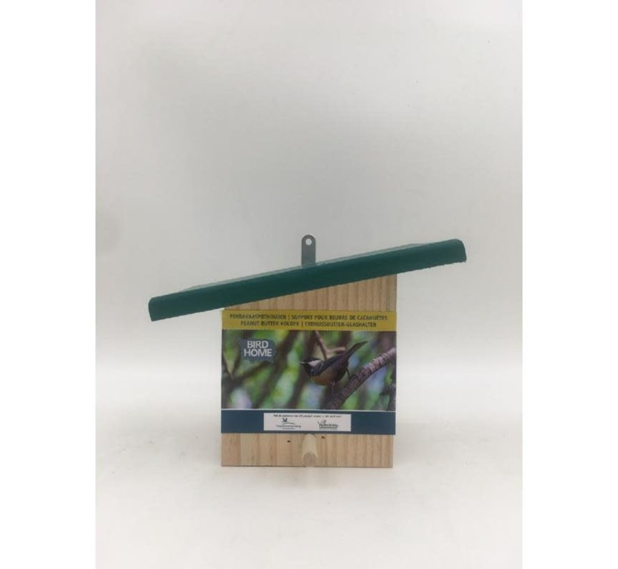 Vogelbescherming  Peanut butter feeder with sloped  roof