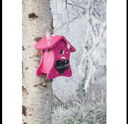 Buzzy Bird Home Pink Birdhouse Nest with chalk