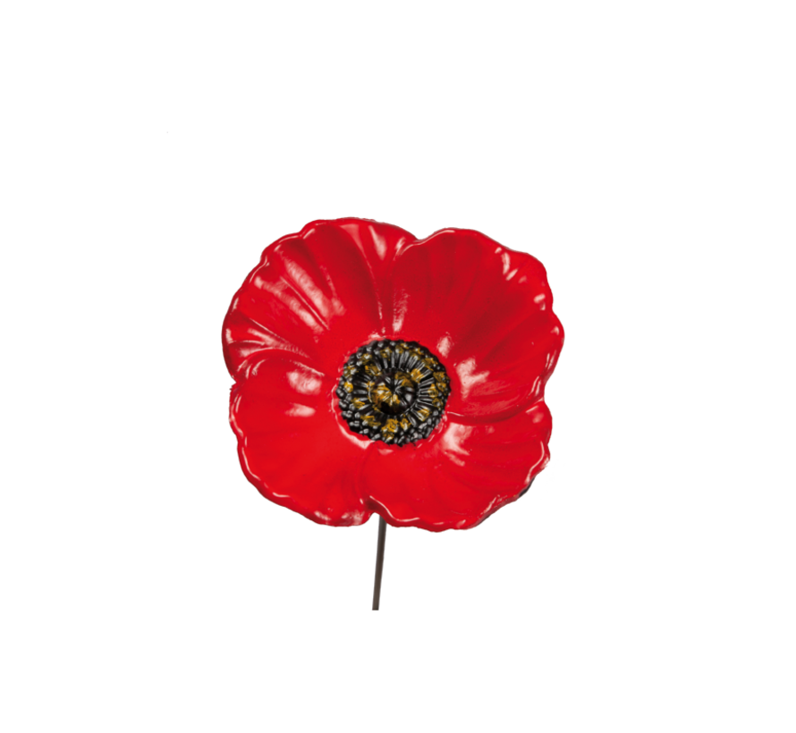 Bird Gift Feeder Stake Poppy