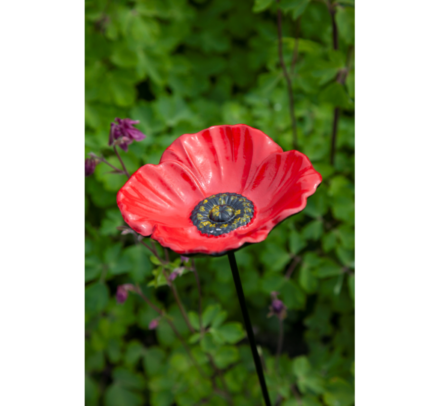 Bird Gift Voeder Paal Papaver
