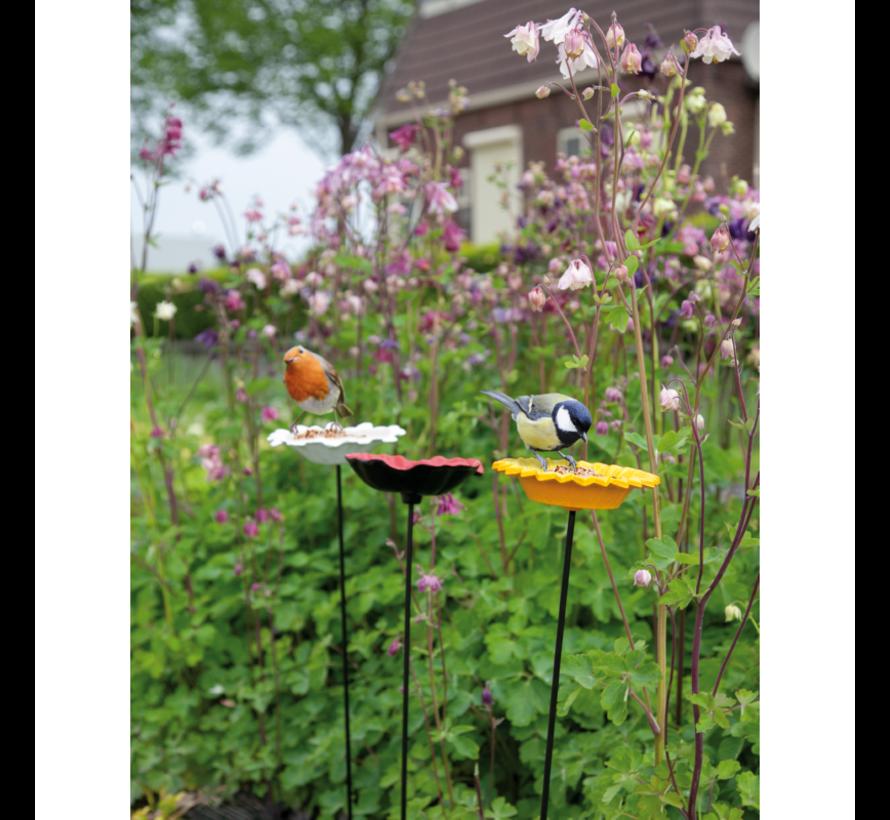 Buzzy Bird Gift Voeder Paal Papaver