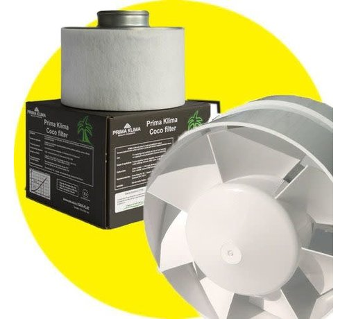 G Tools Combo Winflex 185 Fan + Prima Klima K2600 Mini Eco Carbon Filter