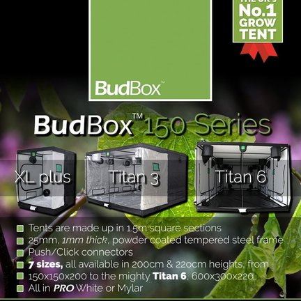 Budbox 150 Series grow tent