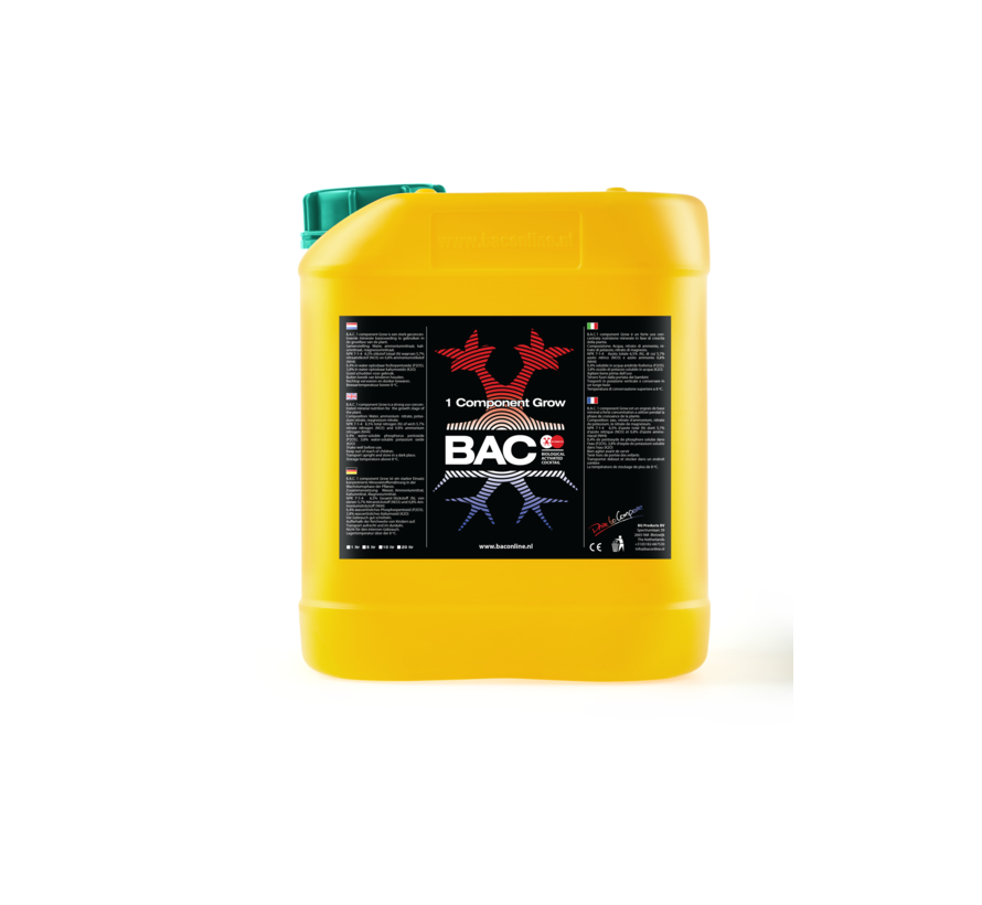 BAC Aarde 1 Component Groeivoeding 5 Liter