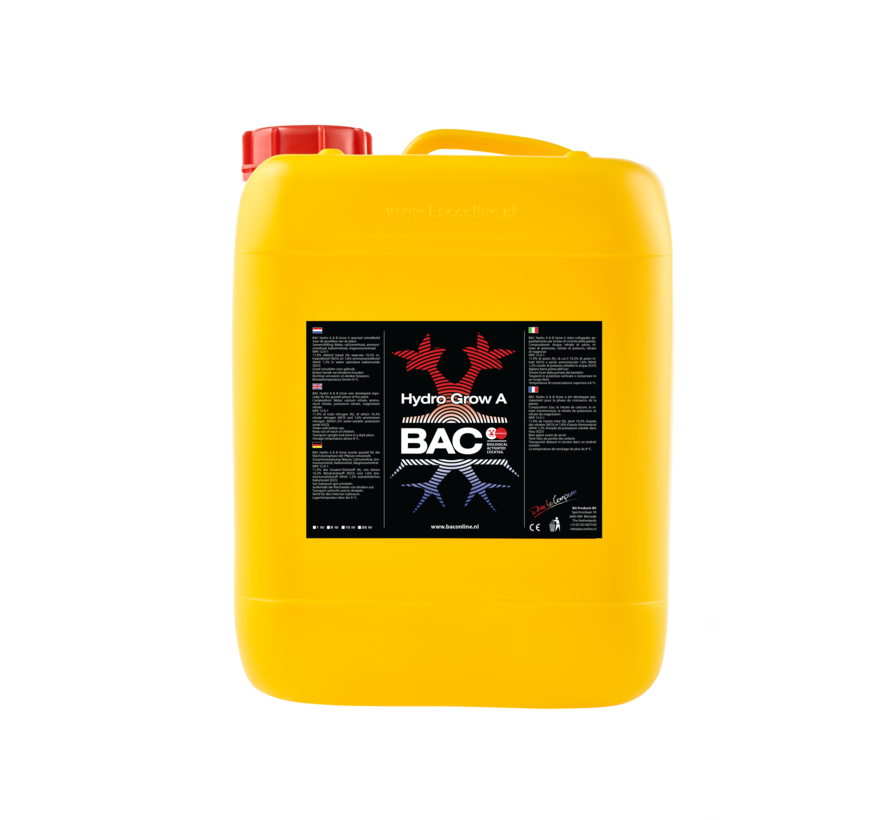 BAC A&B Topflower 5 Litros de Nutrientes de Crecimiento para Hidroponia