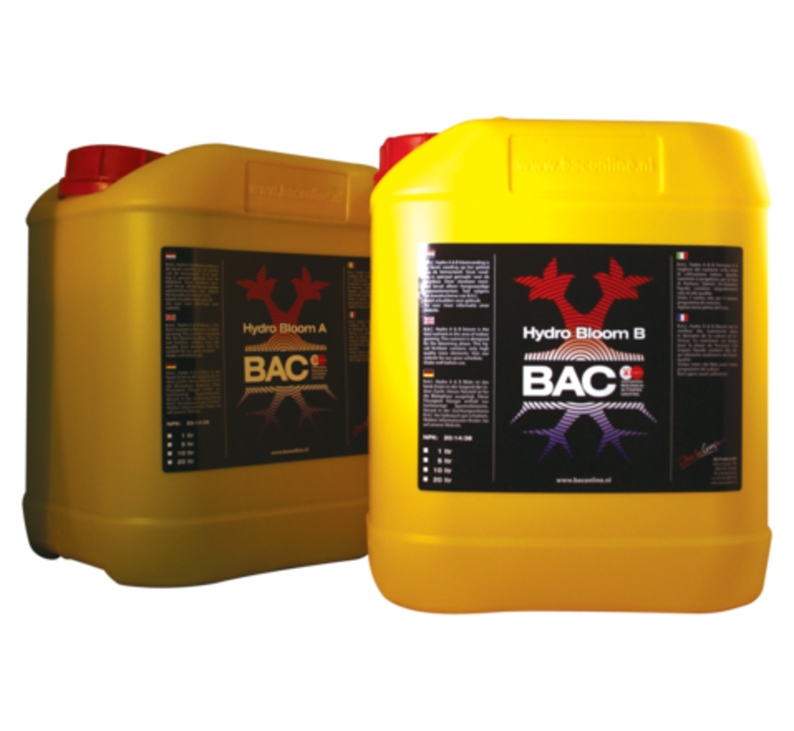 BAC A&B Topflower Bloom Nutrients for hydroponics 5 Liters
