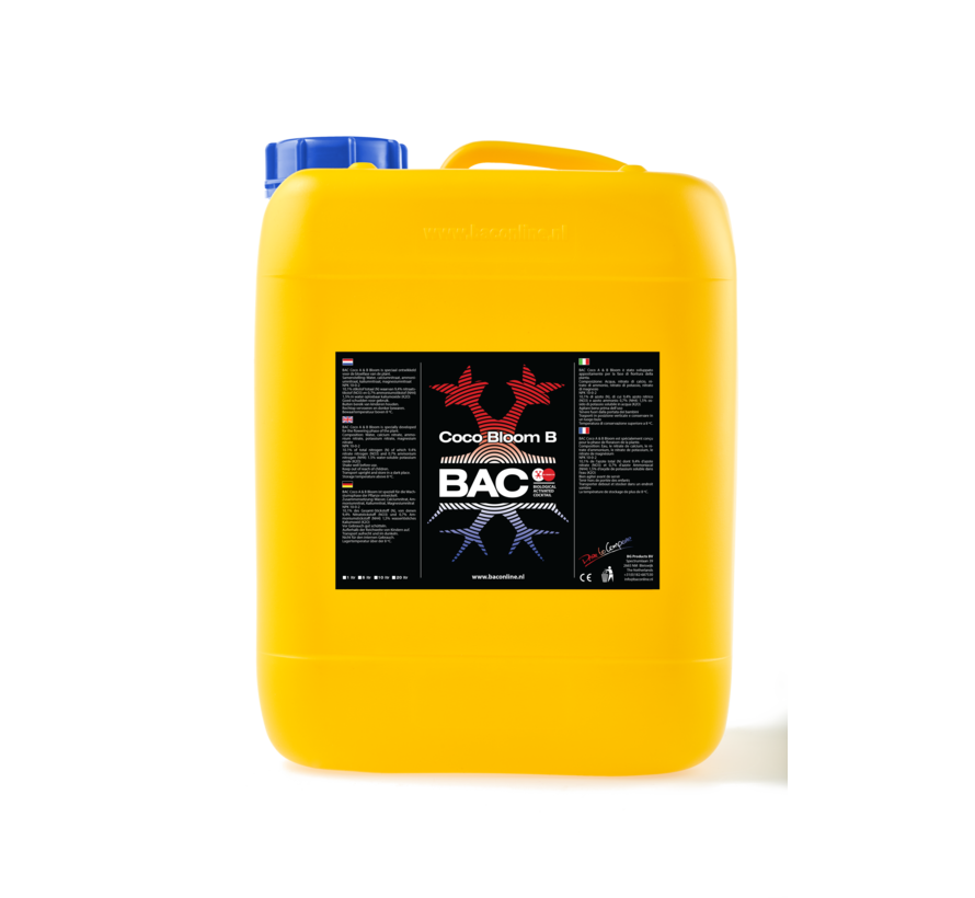 BAC Coco A&B Bloom Nutrients 5 Liters