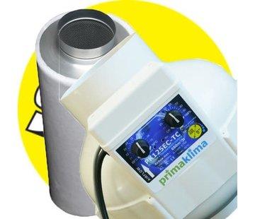 G-Tools PK Buisventilator 125mm + PK1604 Koolstoffilter