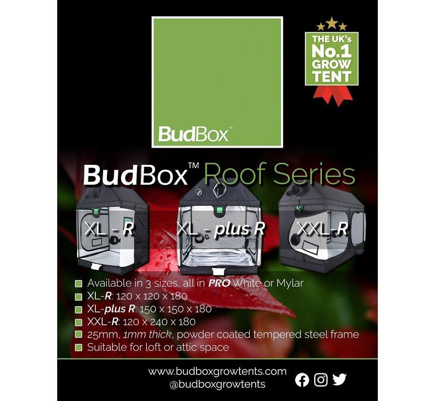BudBox Pro XL R Grow Zelt Silber 120x120x180 cm