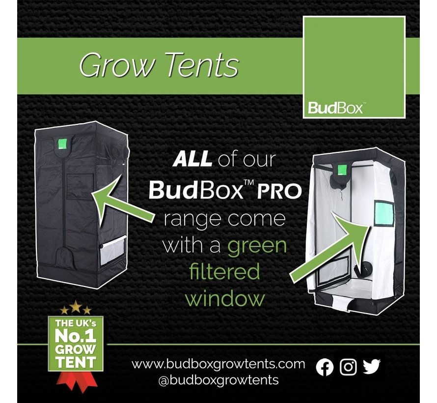 BudBox Pro XL HL Kweektent Zilver 120x120x220 cm