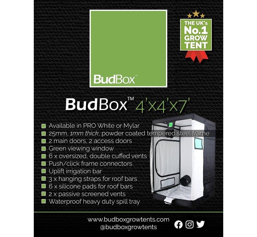 BudBox Pro XL HL Grow Zelt Weiß 120x120x220 cm