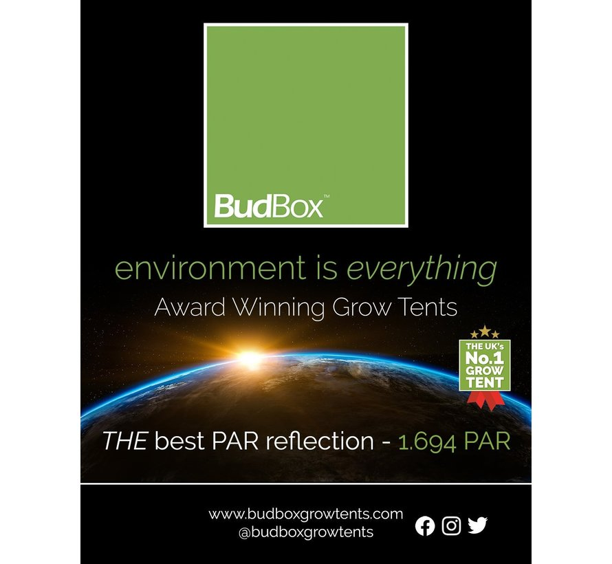 BudBox Pro XXL R Grow Zelt Weiß 120x240x180 cm