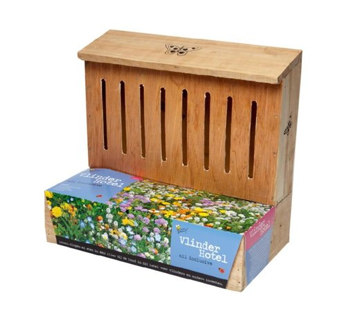 Buzzy Birds Schmetterlingshotel Nestkast + Blumentöpfe