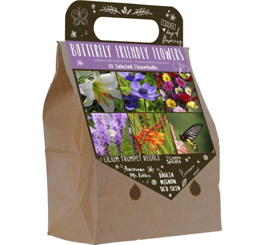 """Frühlingsblumenzwiebeln """"Schmetterlingsfreundlich"""" in Pick-up Tasche"""