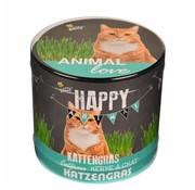 Buzzy Seeds Happy Garden Animal Love Kattengras