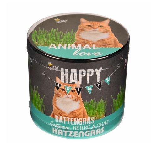 Buzzy Seeds Happy Garden Animal Love Katzengras