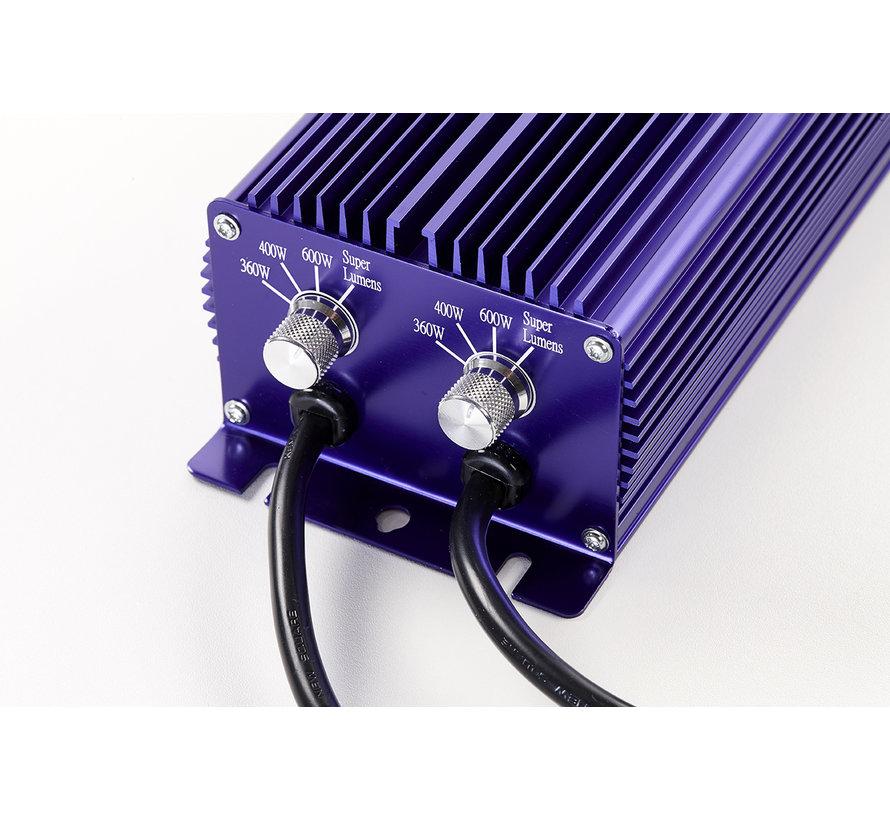 Lumatek EVSA Twin 600 Watt 240 Volt Dimbaar