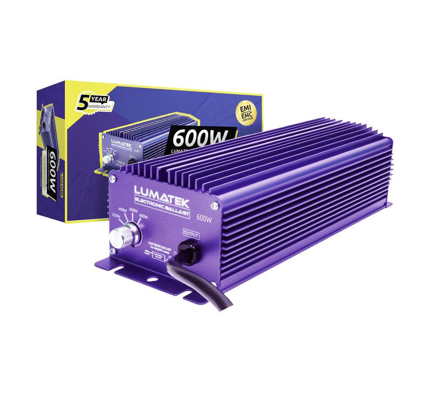 Lumatek EVSA 600 Watt 240 Volt Dimbaar