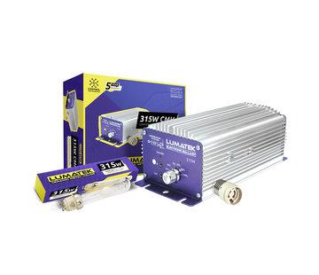 Lumatek Set EVSA CMH 315W 240V Controleerbaar + 315W Lamp + E40 Adapter