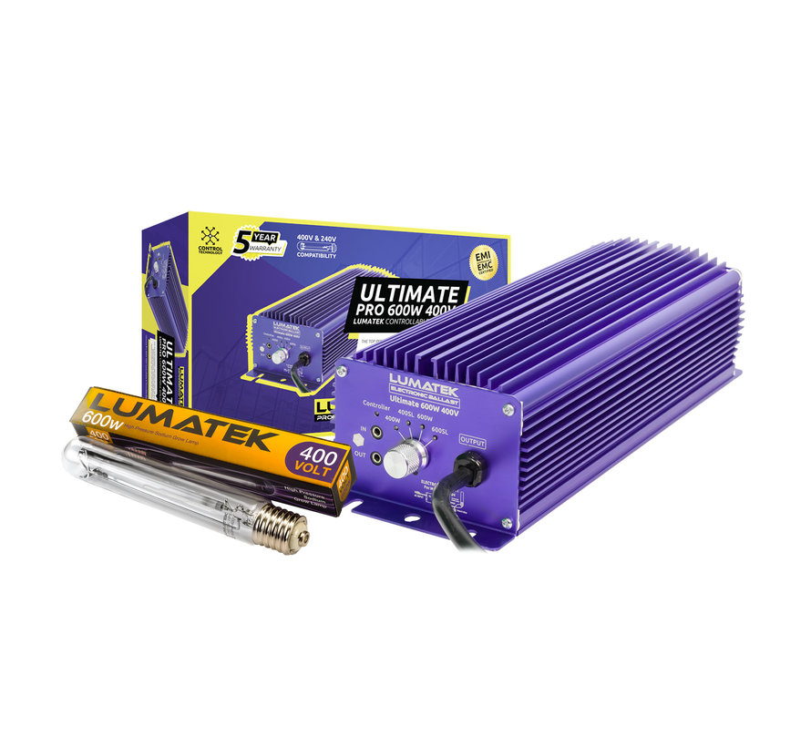 Set Ultimate Pro 600W 400V Controleerbaar EVSA + 600W 400V Lamp