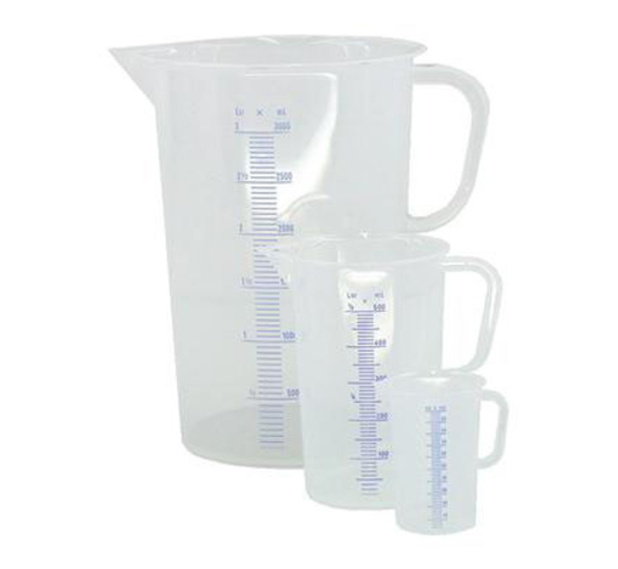 Maatbeker 3 liter Plastic