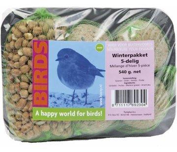 Buzzy Birds Birds Vogelvoer - Winterpakket - 5 delig - 540 gr - Vetbol