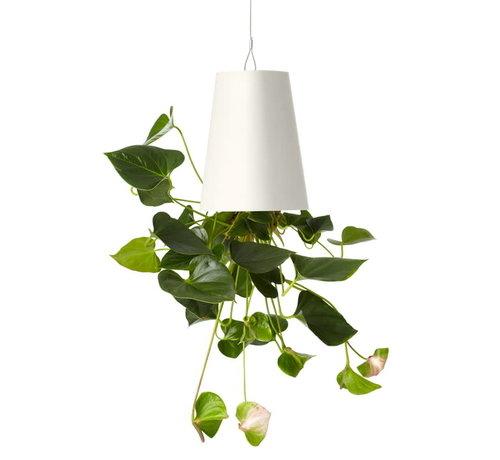 Boskke Sky Planter Recycled Flower Pot White Medium